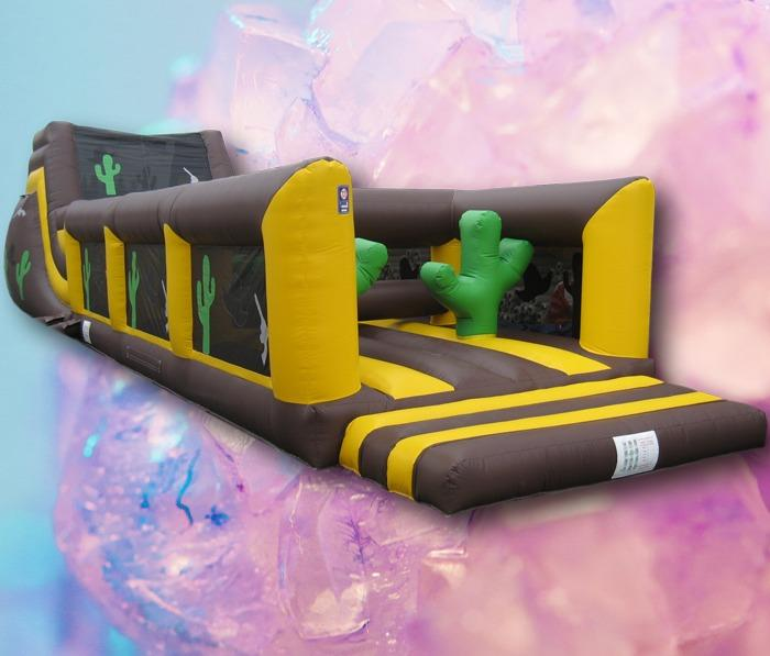 Western Theme Obstacle Course Hire 2 part 65ft long 1156