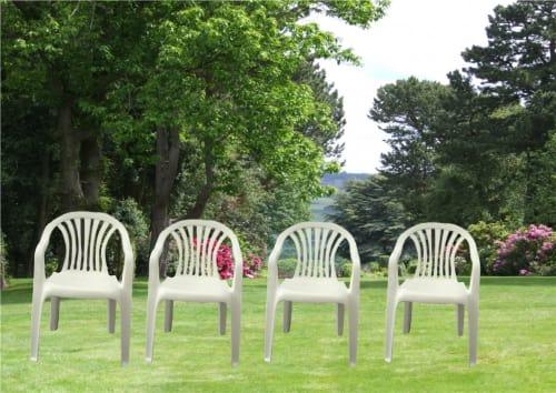 10 Plastic Garden Chairs 13420